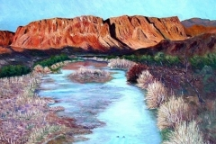 Dawn on the Rio Grande, 2003, oil, 20 x 24 in. [40]