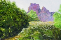 Desert Oasis-Big Bend, 2011, oil, 18 x 24 in. [01]