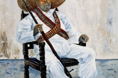 Pablo [Portrait of Old Soldier], 1990, oil, 16 x 12 in. [03]