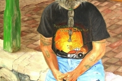 Riding the Porch at Terlingua, 2010, oil, 24 x 18 in. [16]