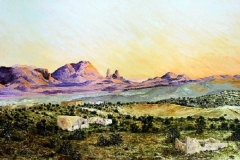 Terlingua Dusk, 2008, oil, 24 x 36 in. [03]