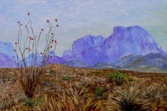 The Chisos-Big Bend, 2010, oil, 24 x 30 in. [06]
