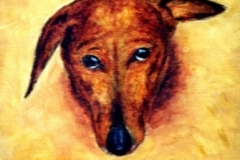 Apache the Pooch, 1998, oil, 10 x 8 in. [01]