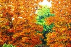 Autumn in the Crosstimbers, 1999, oil, 24 x 20 in. [02]