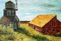 Evelyn's California Barn, 2007, oil, 16 x 20 in. [12] NA
