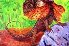 Lizard of Oz, 2003, oil, 20 x 16 in. [37] NA