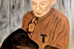 Portrait of Ira Lee Runt Carroll, 1996, oil, 30 x 24 in. [05]