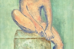 Young Male Figure (after Picasso), 1996, oil, 14 x 11 in. [03]