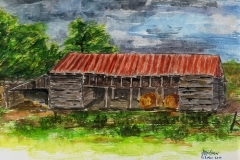 Barn at Lone Star House, 2006, Watercolor, 9 x 12 in. [03]