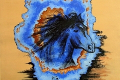 Blue Fury, 2012, acrylic-canvas, 20 x 20 in. [02]