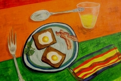 Dos Huevos, 1998, oil, 24 x 30 in. [06] NA
