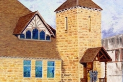Old Presbyterian Church on Main Street, 2009, oil, 24 x 20 in. [14] NA