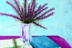 Still Life with Blazing Star of the Texas Prairie, 2007, oil, 24 x 20 in. [01]