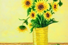 Still Life with Texas Sunflowers, 2006, oil, 20 x 16 in. [06]