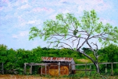 The Hay Shed at Lone Star House, 2009, oil, 20 x 24 in. [07] NA