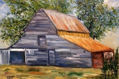 The Old Barn at Peaster, 2017, oil, 14 x 18 in. [02]