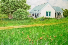 The Pony Express House, 2004, oil, 24 x 27.5 in. [23] O