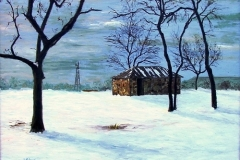 Winter Landscape-McConnell Ranch, 2013, oil, 24 x 30 in. [03] NA